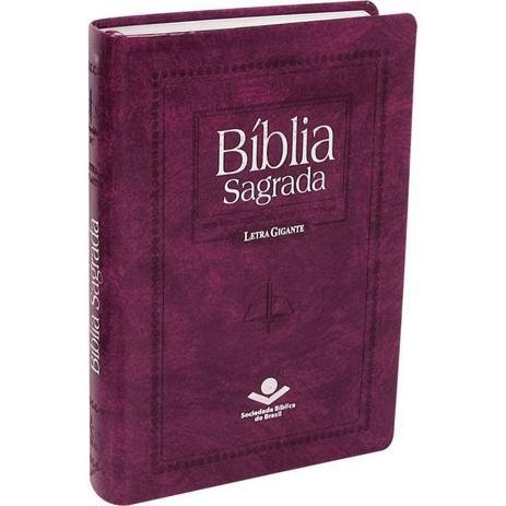 Imagem de Bíblia Sagrada Letra Gigante - Púrpura Nobre