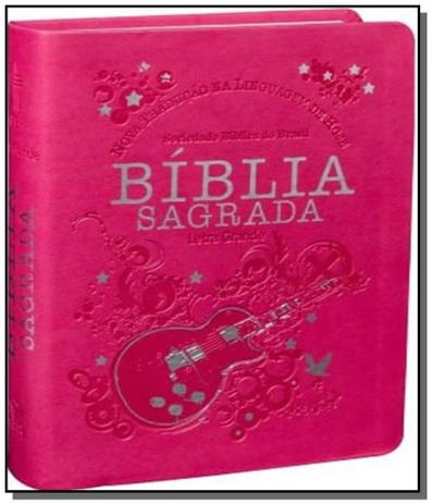 Imagem de Biblia sagrada letra grande - capa pink - sbb
