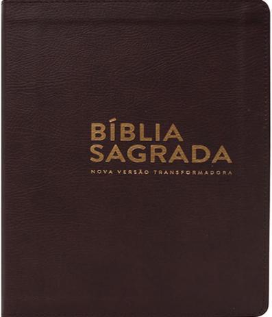 Imagem de Biblia Sagrada - Nvt - Capa Luxo Marrom - Letra Normal