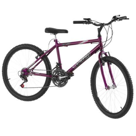 Imagem de Bicicleta 18 Marchas Aro 24 Lilás Pro Tork Ultra