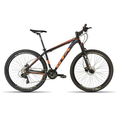 Imagem de Bicicleta 29 GTA NX11 27V Shimano Freio Disco Susp. Preto com Laranja 17