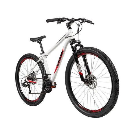 Imagem de Bicicleta Adulto Caloi Vulcan Aro 29, 21 Marchas, Quadro de Alumínio, Freio a Disco, Branca