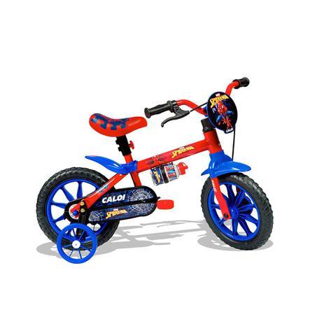 5a8a80fd9 Bicicleta Aro 12 com Rodinhas Homem Aranha - Caloi - Bicicleta ...