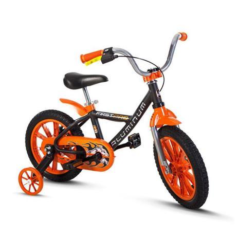 c87536a00 Bicicleta Aro 14 First Pro Laranja - Nathor - Bicicleta de ...