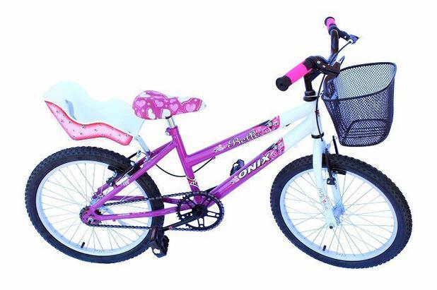 Imagem de Bicicleta aro 20 fem onix cor pink com cadeirinha
