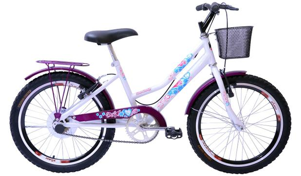 Imagem de Bicicleta Aro 20 Feminina New Lady Aer Branco/Aces Vl C/Ct