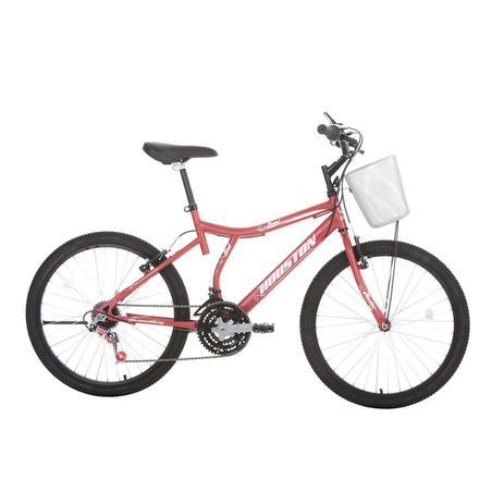 b43f5f992 Bicicleta Aro 24 Houston Bristol Peak Com Cesta 21 Marchas Vermelho ...