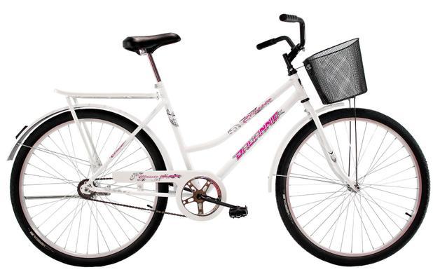 Imagem de Bicicleta Aro 26 Feminina Freio no Pé CP Classic Branca