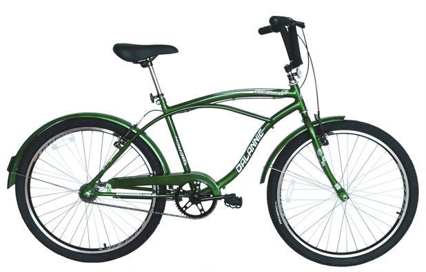 Imagem de Bicicleta Aro 26 Masculina Beach Retrô Vintage Verde