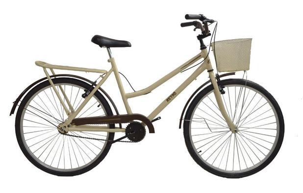 Imagem de Bicicleta aro 26 Retrô classic new bike moderna Bege