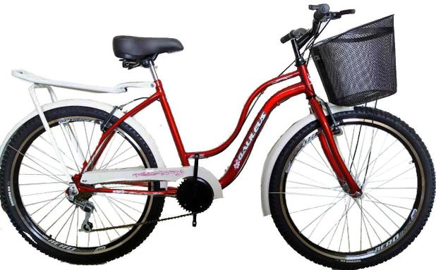Imagem de Bicicleta aro 26 retrôs classic Galileus 6 marchas