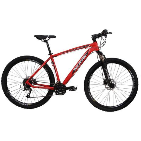 8ed4811ca Bicicleta Aro 29 Alumínio 27V Freio Hidráulico Trail Vermelha - Dalannio  bike