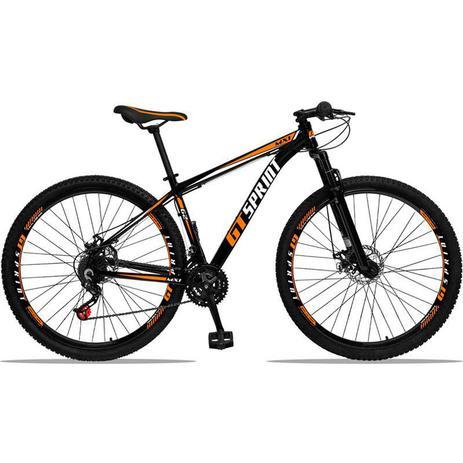 Imagem de Bicicleta Aro 29 GT SPRINT Alumínio 21v Freio a Disco Preto Laranja Dropp