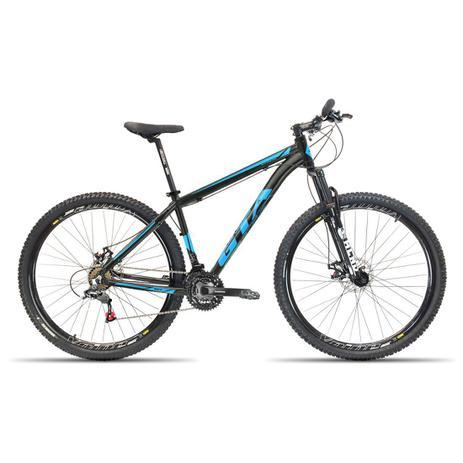 Imagem de Bicicleta Aro 29 GTA NX11 21V Relação Shimano Preto com Azul 19