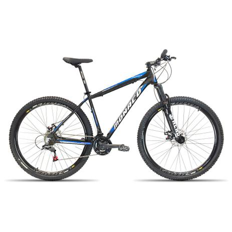 Imagem de Bicicleta Aro 29 Monaco  21V Cambios Shimano Preto com Azul 17