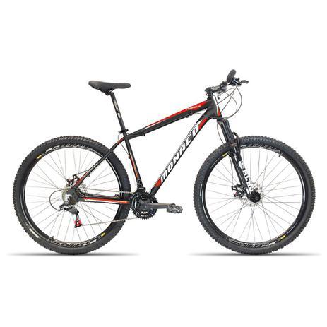 Imagem de Bicicleta Aro 29 Monaco  24v Cambios Shimano Preto com Vermelho 17