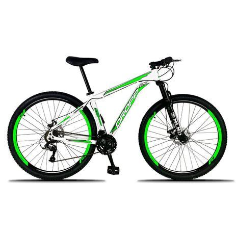 Imagem de Bicicleta Aro 29 Quadro 17 Freio a Disco Mecânico 21 Marchas Alumínio Branco Verde - Dropp