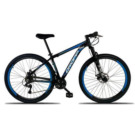 Imagem de Bicicleta Aro 29 Quadro 17 Freio a Disco Mecânico 21 Marchas Alumínio Preto Azul - Dropp
