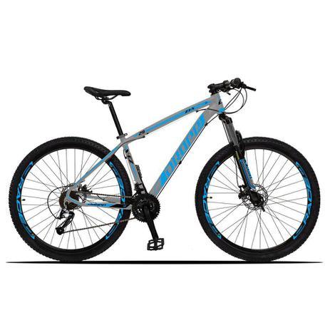 Imagem de Bicicleta Aro 29 Quadro 19 Alumínio 27 Marchas Freio Disco Hidráulico Z3-X Cinza/Azul - Dropp