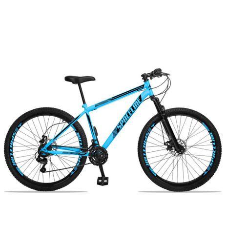 Imagem de Bicicleta Aro 29 Spaceline Moon 21v Freio a Disco c/ Suspensão Azul e Preto
