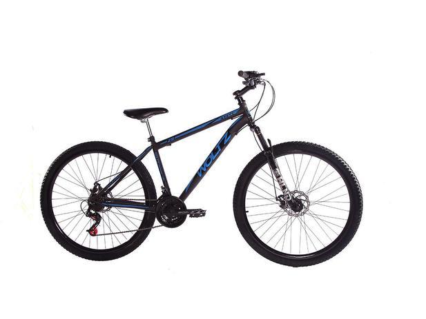 Imagem de Bicicleta Aro 29 Woltz Aço Carbono Freios A Disco Garfo com Suspensão