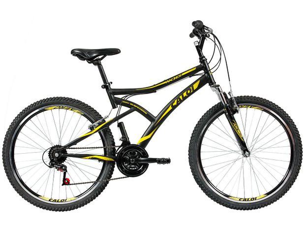 4857565ed Bicicleta Caloi Andes Aro 26 21 Marchas - Suspensão Dianteira Freio V-brake