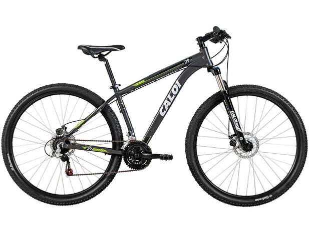 Bicicleta Caloi Aro 29 21 Marchas Câmbio Shimano - Quadro de Alumínio