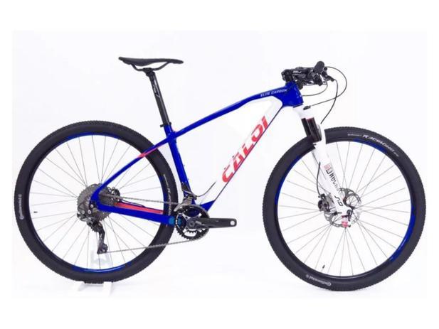2e63efe5e Bicicleta Caloi Elite Carbon Team Xtr 2018 com Brinde Nf - Ciclismo ...