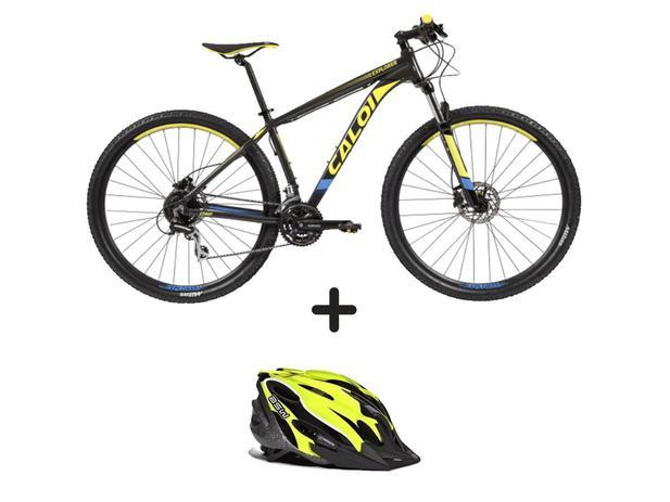 03b8c431d Bicicleta Caloi Explorer Comp aro29 2019 + Capacete asw Fun Fluor M - Caloi    asw
