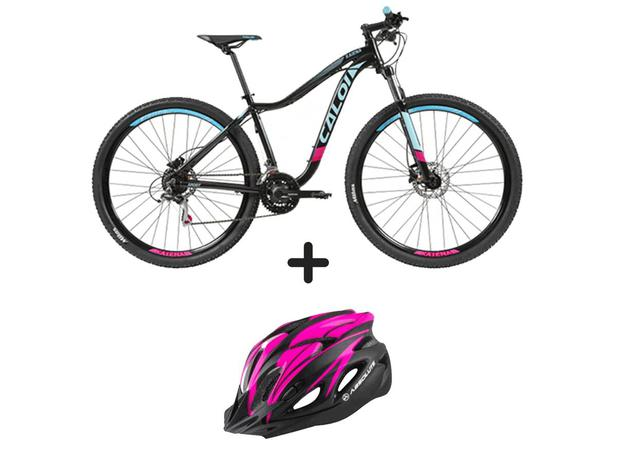 94e3c607c Bicicleta Caloi Kaiena Sport 2019 Aro 29 + Capacete Absolute Nero Pto Rosa c   led - Caloi   absolute