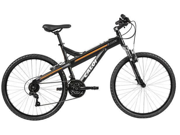 adfd1d431 Bicicleta Caloi T-Type Aro 26 21 Marchas Suspensão - Dianteira Quadro de  Alumínio Freio V-Brake