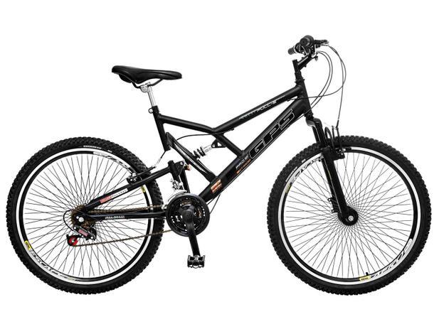 Bicicleta Colli Bike GPS Pro Aro 26 21 Marchas - Dupla Suspensão Freio  V-brake 618b79460fc