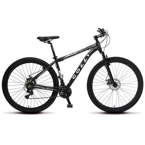544b7008c77f55 Bicicleta Colli Quadro em Alumínio 21 Marchas Aro 29 Freio a Disco - Kit  Shimano