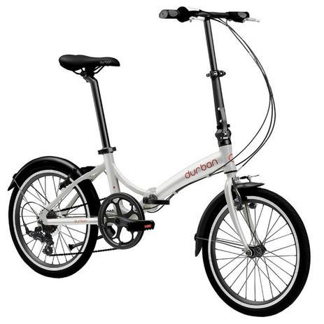 Imagem de Bicicleta Dobrável Aro 20 e 6 Marchas Prata - Durban Rio