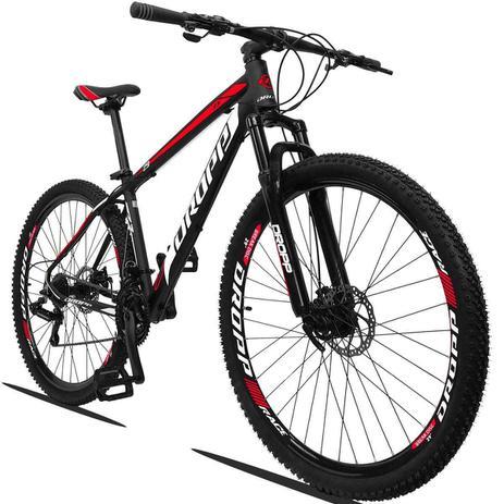 Imagem de Bicicleta Dropp Z3 Aro 29 Câmbios Shimano 21v Freio a Disco e Suspensão Cor: Preto, Vermelho e Branco Quadro 17