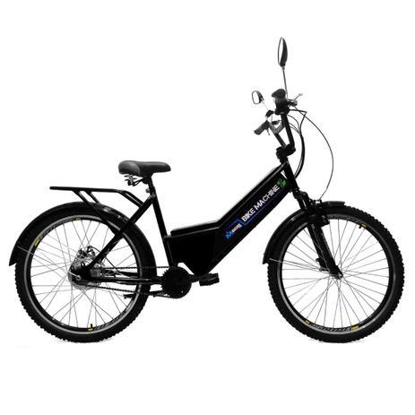 Bicicleta Elétrica Machine Motors Basic 350W 36V Preto / Preto kf837eh60k