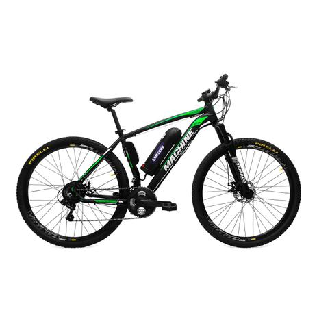 Bicicleta Elétrica Machine Motors Liberty 350W 36V Preto/Verde