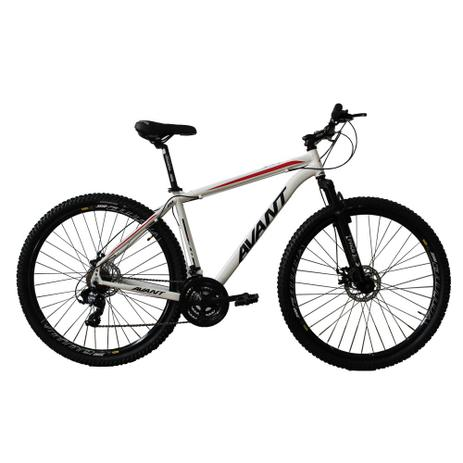c511c7423 Bicicleta em Alumínio aro 29ER Freio a Disco 21 Velocidades Câmbios Shimano  Branco Preto Vermelho - Avant AV 3.0