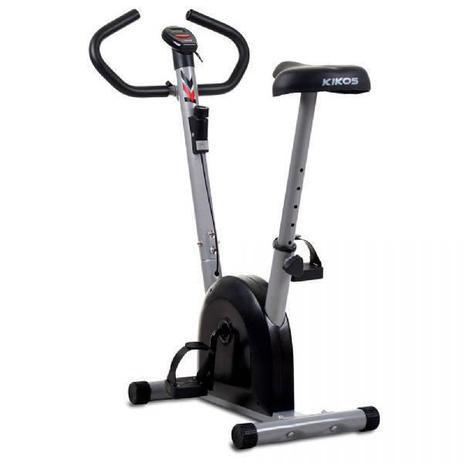 Imagem de Bicicleta Ergométrica Kikos 3015, Prata e Preto, Painel com auto scan, Ajuste de altura