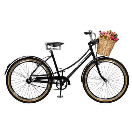 a0aa02c14 Bicicleta Feminina Aro 26 Bella Retro Preta Master Bike - Ciclismo ...