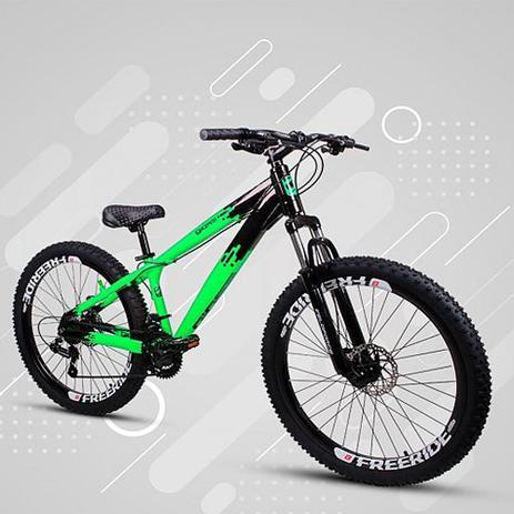 Imagem de Bicicleta Gios FRX Freeride Aro 26 Freio a Disco 21 Velocidades Cambios Shimano  GioS Verde Neon