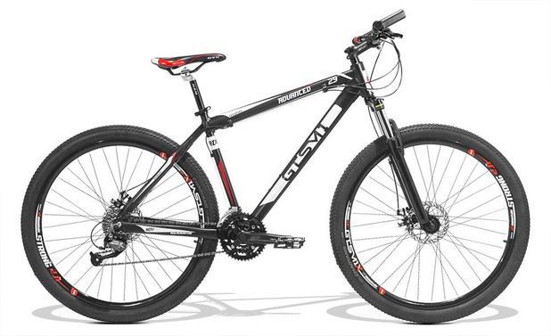 Bicicleta GTS M1 Advanced New aro 29 Freio a Disco Câmbio Shimano 27  marchas - Preto f9212fc820c