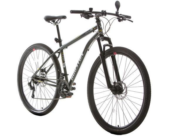 cb95bc99f Bicicleta Houston Discovery Shimano Aro 29 - 21 Marchas Suspensão Dianteira  Câmbio Shimano