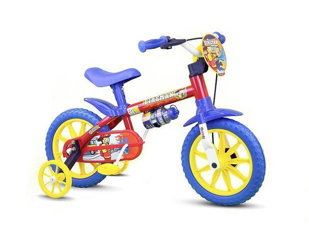 c9a3c719b Bicicleta Infantil Aro 12 Fireman - Nathor - Ciclismo - Magazine Luiza