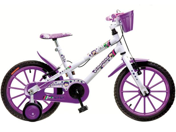 Imagem de Bicicleta Infantil Aro 16 Colli Amorinha Branco e