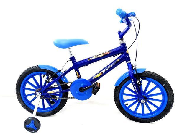 2b4d3dd56 Bicicleta Infantil Aro 16 Hot Car Azul - Ello Bike - Bicicleta de ...