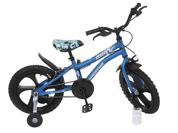 d9cf7913c Bicicleta Infantil Aro 16 Houston Nic Azul - com Rodinhas ...