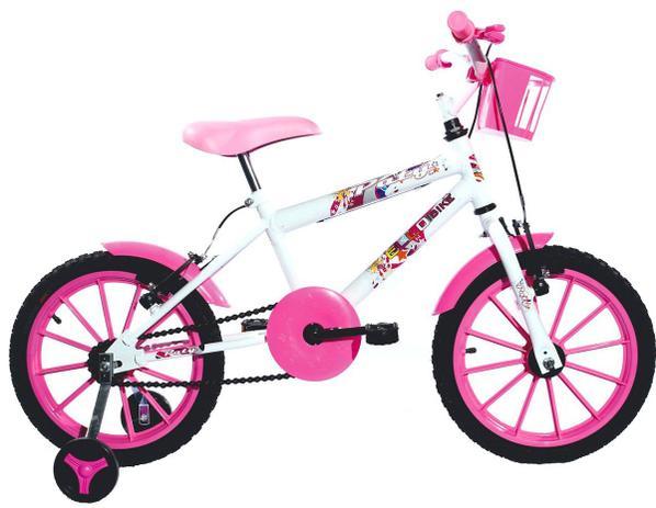 c72f84740 Bicicleta Infantil Aro 16 Paty Branca Pink - Ello Bike - Bicicleta ...