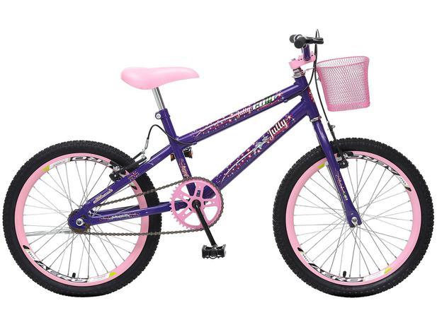 a9499b033 Bicicleta Infantil Aro 20 Colli Bike July - Violeta com Cesta Freio V-Brake
