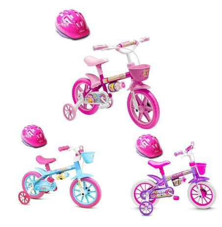 37f6110d4 Bicicleta Infantil Menina Criança 3 A 5 Anos Aro 12 Nathor Com capacete